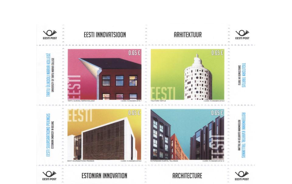 Rotermanni linnamajad Eesti Posti margiplokil